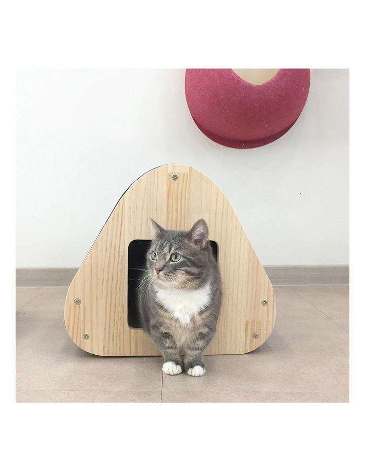 Yaomi Wood Triangle Cat Scratcher Sofa image 7