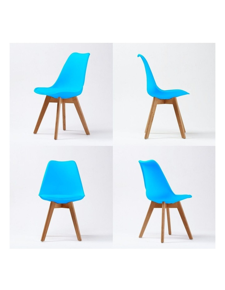 4X Padded Seat Dining Chair - GREY BLUE image 4