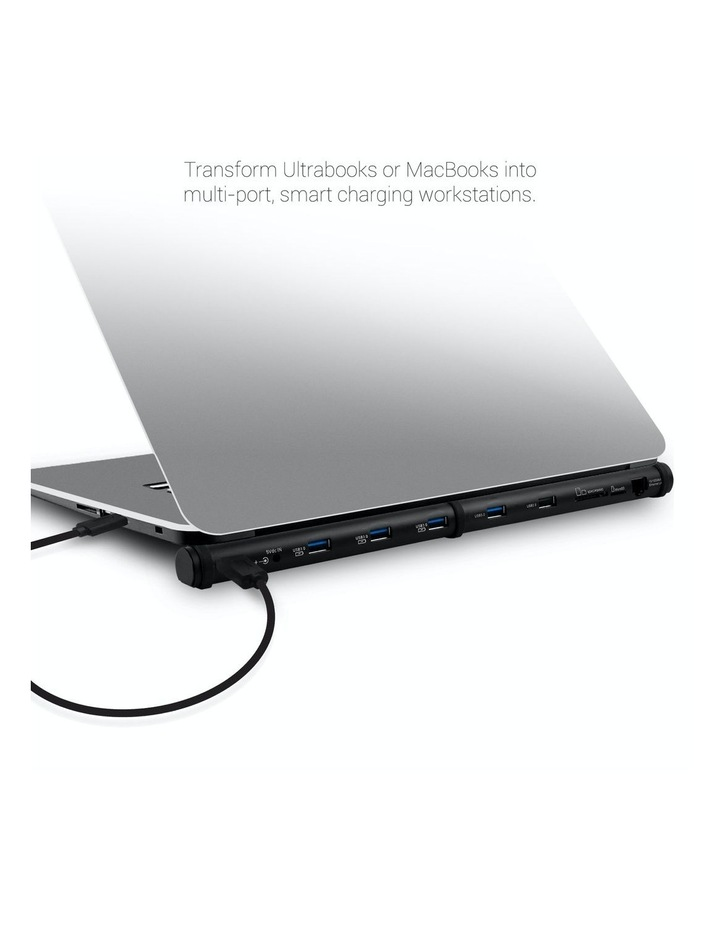 """M-Sleek"" Docking Station For Notebook And Macbook -Aluminium Design-Black image 4"