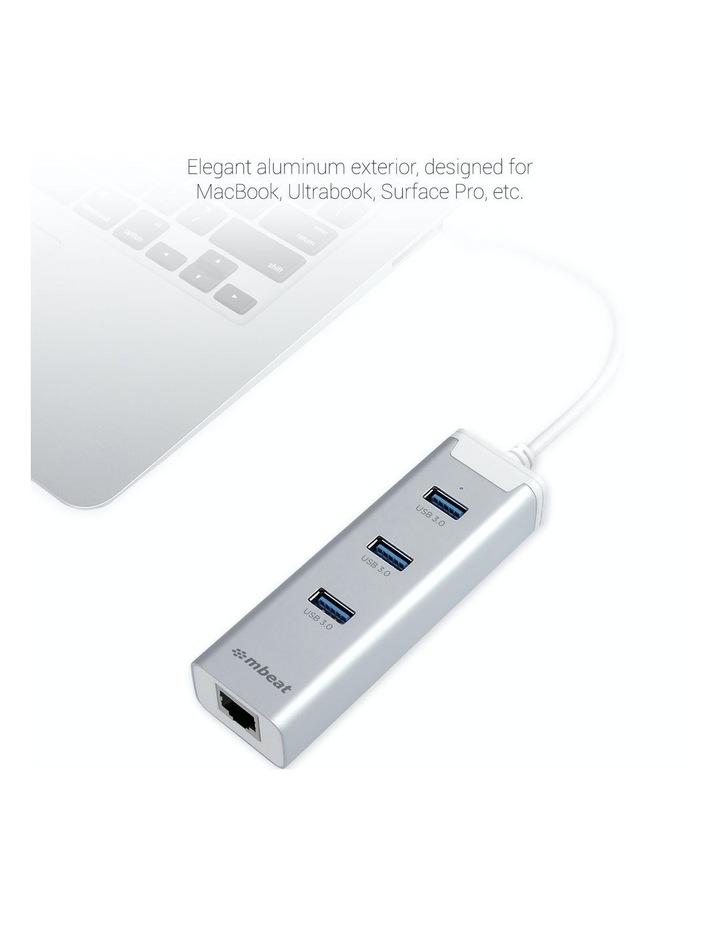 New Mbeat 3-Port Usb 3.0 Hub Adapter With Gigabit 1000/M Rj45 Usb Lan Mac And Pc image 3
