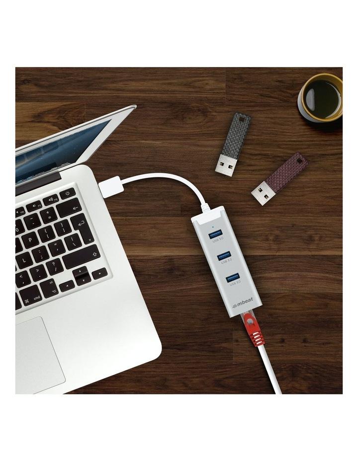 New Mbeat 3-Port Usb 3.0 Hub Adapter With Gigabit 1000/M Rj45 Usb Lan Mac And Pc image 6