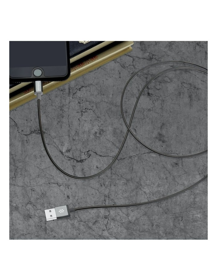 Toughlink Space Gray 1.2M Metal Braided Mfi Lightning Cable image 6