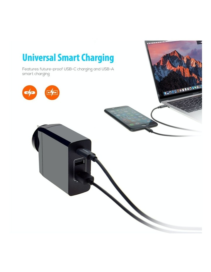 World Travel Charger(Usb-C X 1, Usb-A X 2) With Interchangeable Plugs image 3