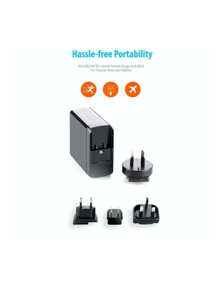World Travel Charger(Usb-C X 1, Usb-A X 2) With Interchangeable Plugs image 4