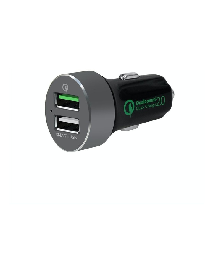 """Quickboost S"" Dual Port Qualcomm Certified Car Charger image 1"