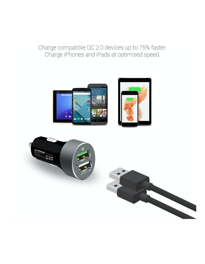 """Quickboost S"" Dual Port Qualcomm Certified Car Charger image 3"