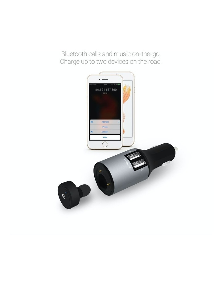 Powertone Mini Bluetooth Earphone With Dual Port Car Charger image 2