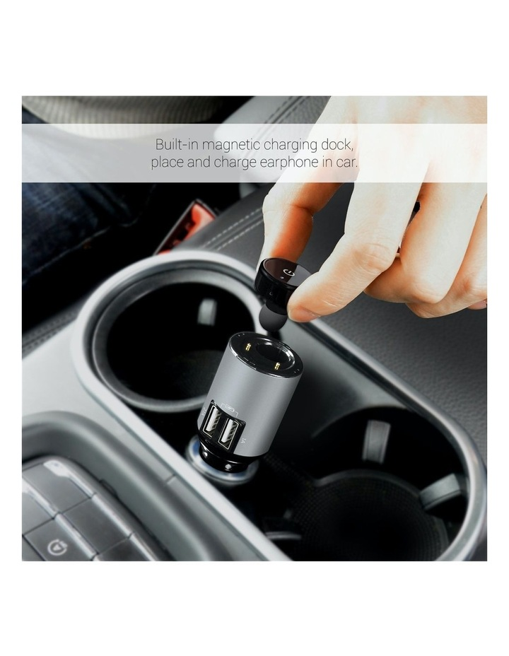 Powertone Mini Bluetooth Earphone With Dual Port Car Charger image 4