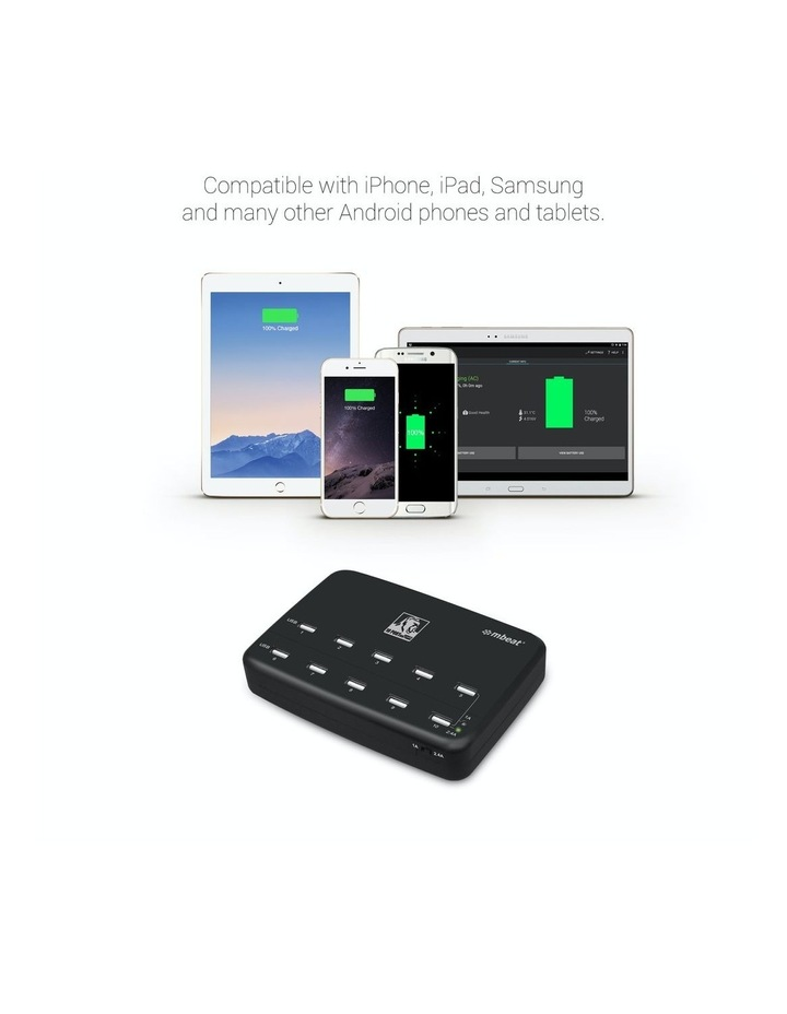 Gorillia Power 60W 10 Port Usb Charging Hub image 4