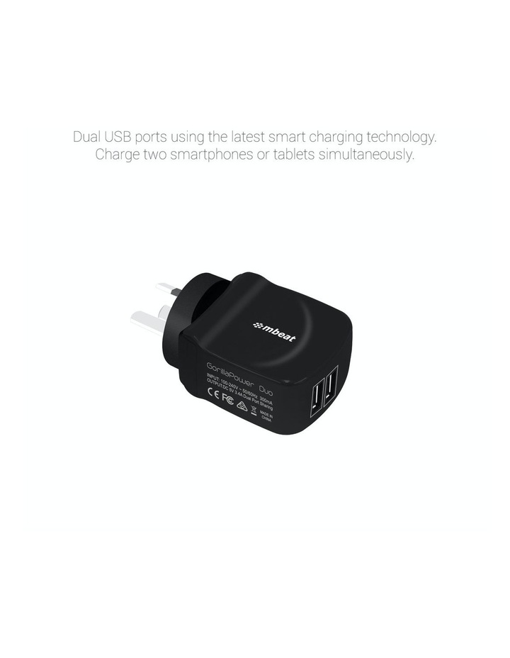 """""""Gorillapower Duo"""" 3.4A Dual Usb Ports Smart Charger image 2"""
