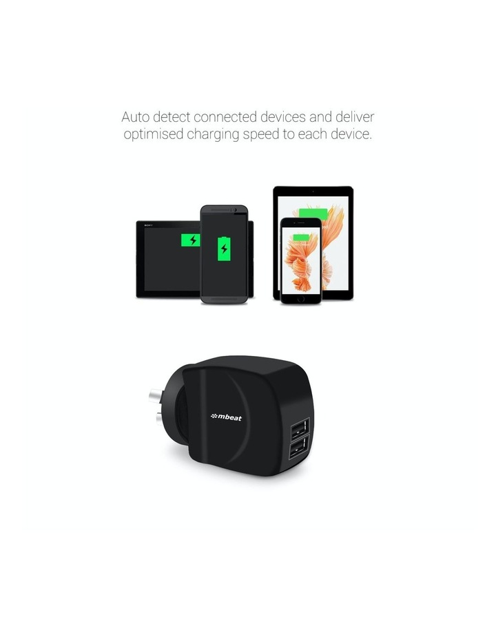 """""""Gorillapower Duo"""" 3.4A Dual Usb Ports Smart Charger image 3"""