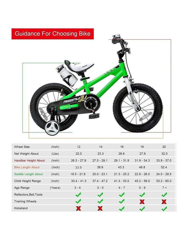 BMX Freestyle Pedal Brake Kids Bike for Boys and Girls 12 14 16 18 inch, Green image 5