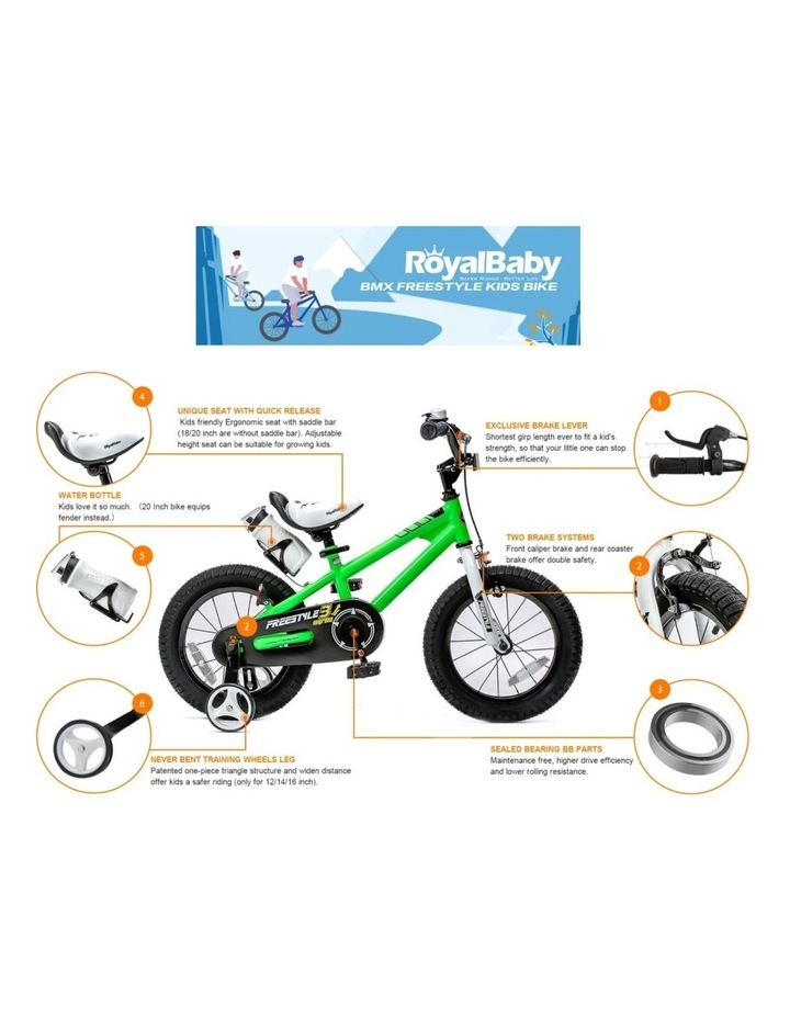 BMX Freestyle Pedal Brake Kids Bike for Boys and Girls 12 14 16 18 inch, Green image 7