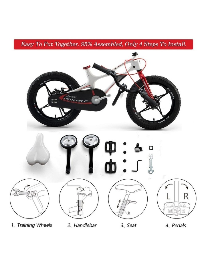 Space Shuttle Magnesium Alloy Kids Bike for Boys and Girls 14 16 18 Inch, White image 2
