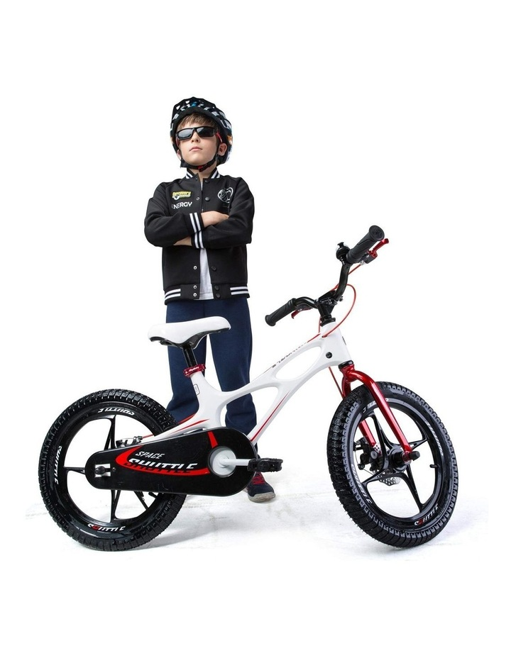 Space Shuttle Magnesium Alloy Kids Bike for Boys and Girls 14 16 18 Inch, White image 4
