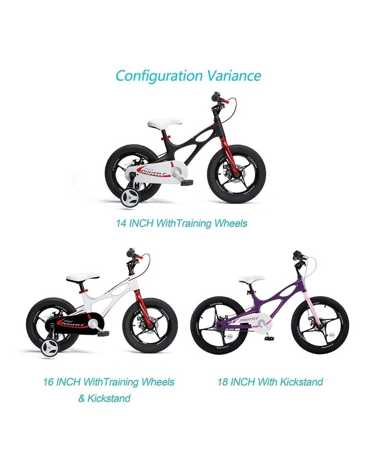 Space Shuttle Magnesium Alloy Kids Bike for Boys and Girls 14 16 18 Inch, White image 7