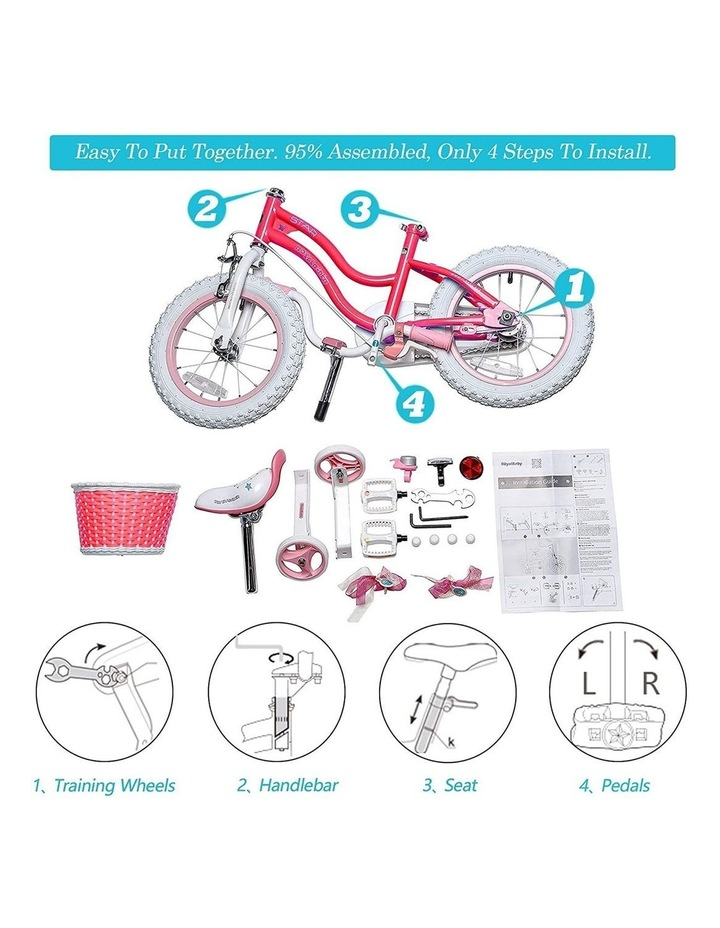 Stargirl Girls Kids Bike 12 14 16 18 Inch, Pink and White Color image 5