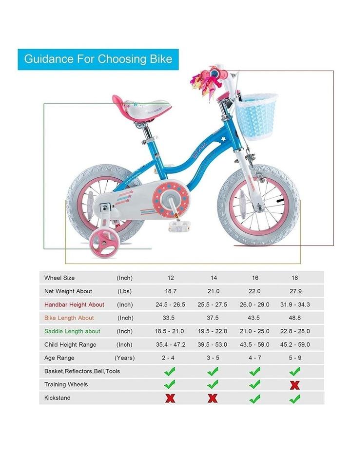 Stargirl Girls Kids Bike 12 14 16 18 Inch, Blue White Color image 2