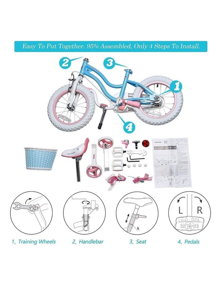 Stargirl Girls Kids Bike 12 14 16 18 Inch, Blue White Color image 3