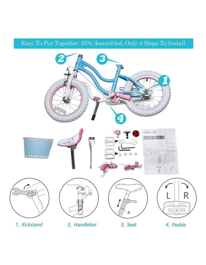 Stargirl Girls Kids Bike 12 14 16 18 Inch, Blue White Color image 7