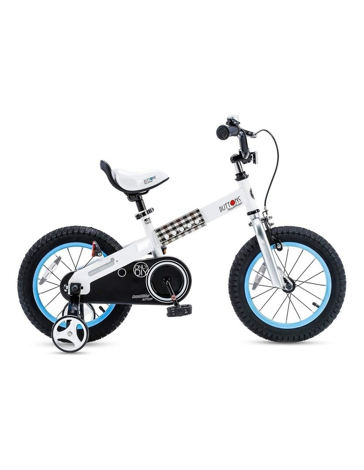 """Buttons 12/14/16/18"""" Kids Bike in White/Blue image 1"""