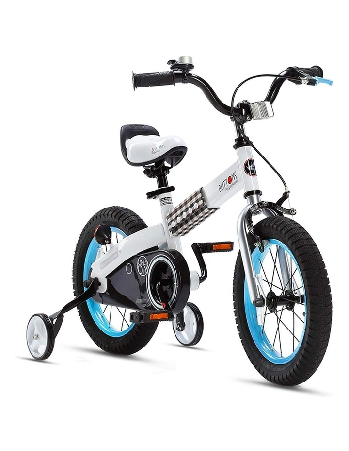"""Buttons 12/14/16/18"""" Kids Bike in White/Blue image 2"""