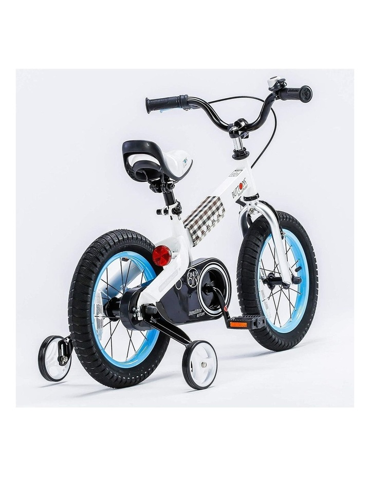 """Buttons 12/14/16/18"""" Kids Bike in White/Blue image 3"""