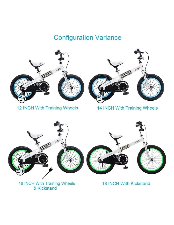 """Buttons 12/14/16/18"""" Kids Bike in White/Blue image 5"""