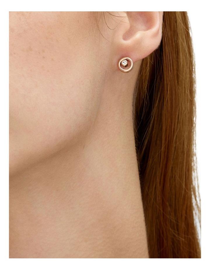 Elin Rose Gold Earrings image 2
