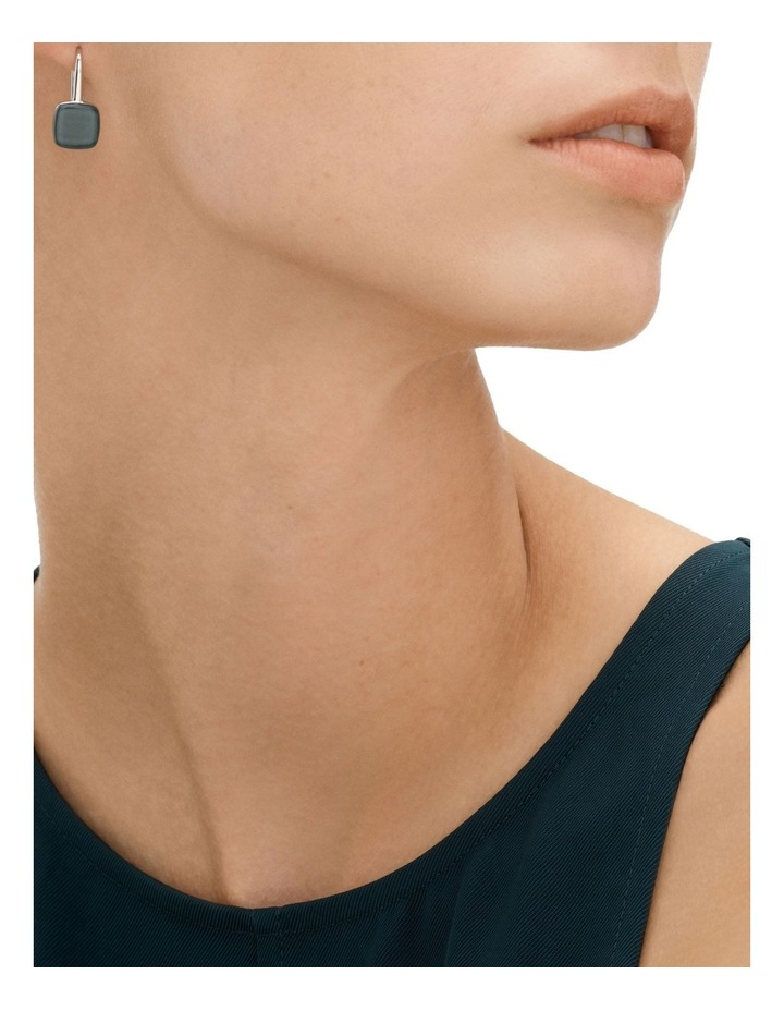 Sea Glass Silver Earrings image 2