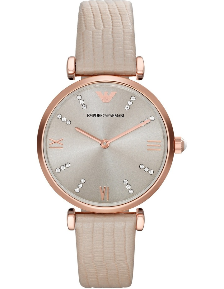 AR1681 Retro Watch in Brown image 1
