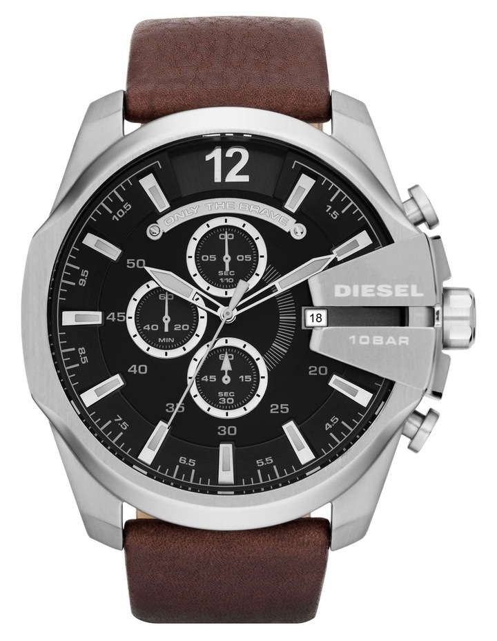 DZ4290 Mega Chief Watch in Brown/Silver image 1