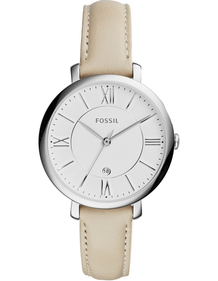 Jacqueline Beige Leather Watch image 1