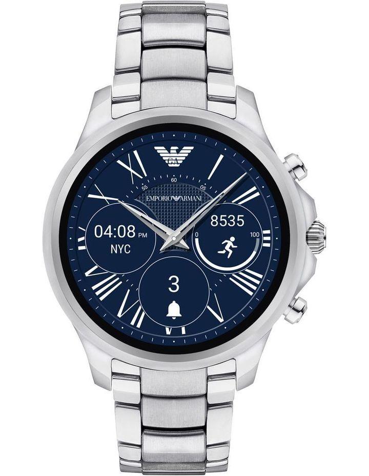 b64c52cb821ac Emporio Armani Wearables | Alberto Silver Hybrid Smartwatch | MYER