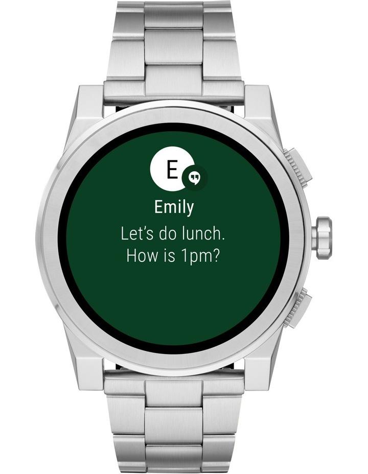 287d5481e647 MKT5025 Grayson Silver Smartwatch image 1
