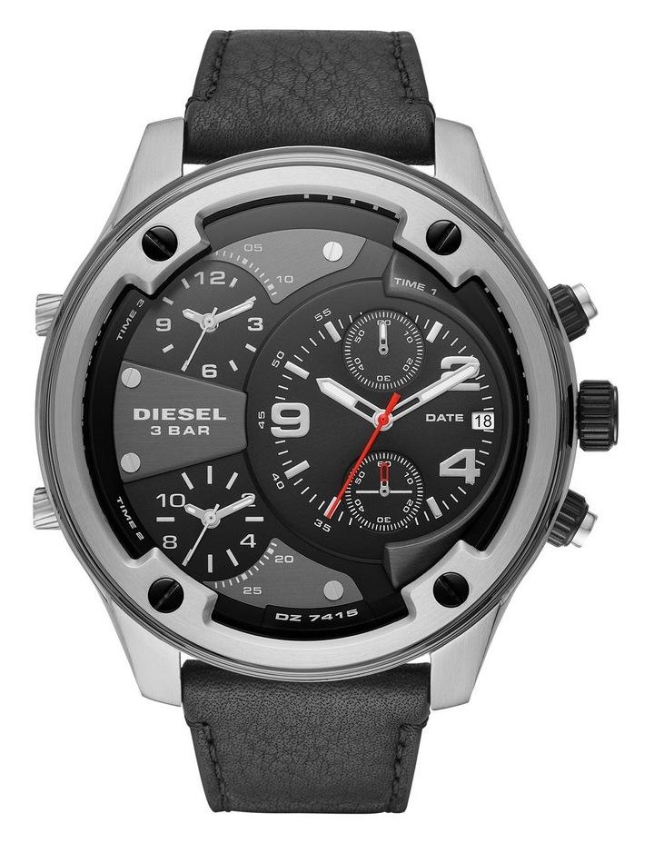 Boltdown Men Black Leather Watch DZ7415 image 1