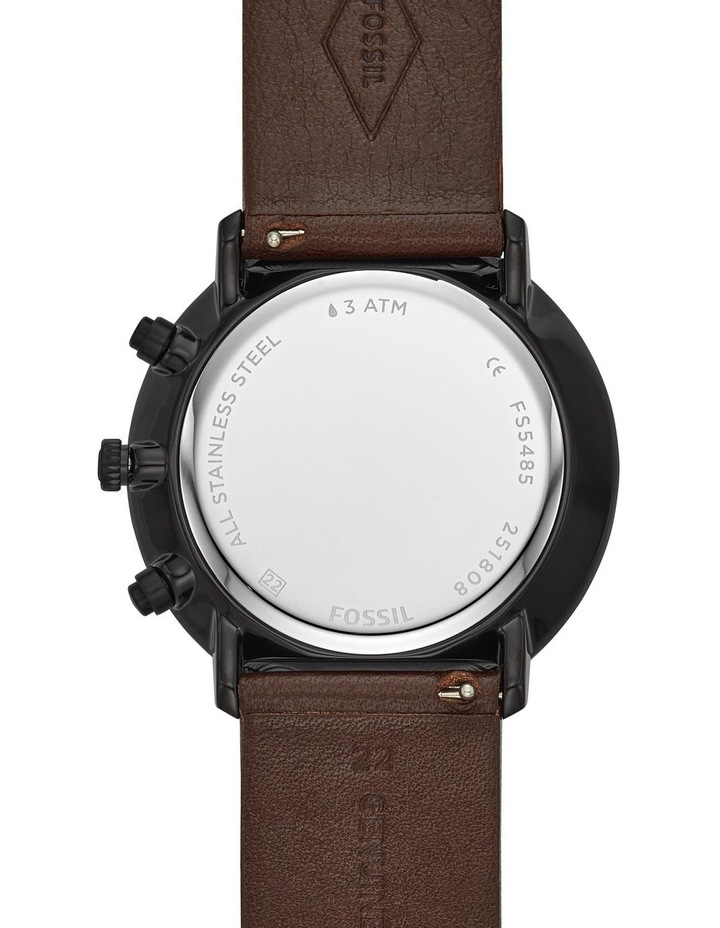 Fossil Chase Timer Men Brown Leather Watch FS5485 image 3