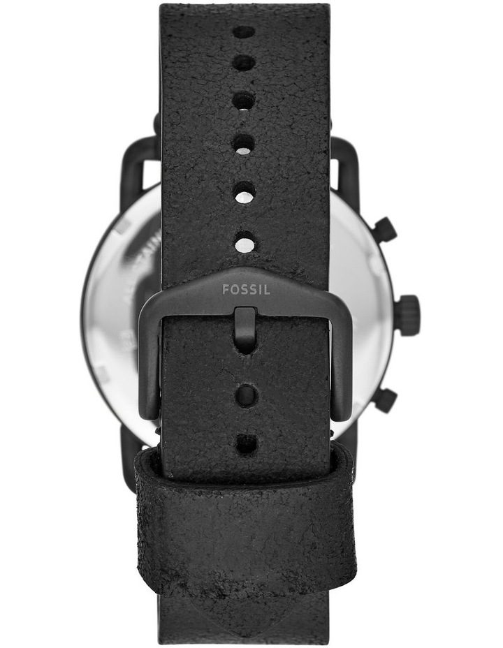 The Commuter Chrono Men Black Leather Watch FS5504 image 3