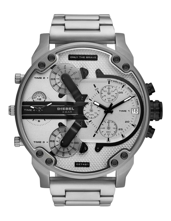 MR Daddy 2 Silver-Tone Analogue Watch DZ7421 image 1
