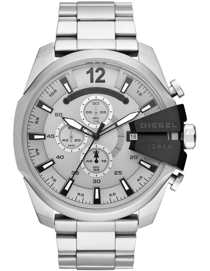 Mega Chief Silver-Tone Chronograph Watch DZ4501 image 1