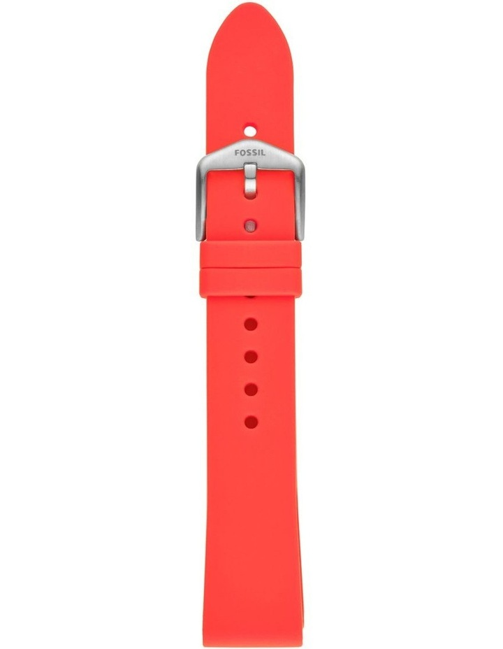 S181396 18mm Red Silicone Strap image 1