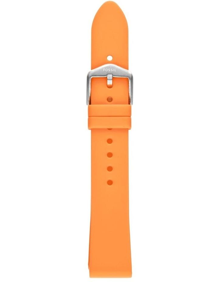 S181400 18mm Tangerine Silicone Strap image 1
