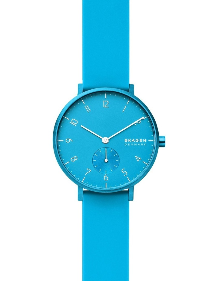 SKW2818 Aaren Kulor Neon Blue Silicone Watch image 1