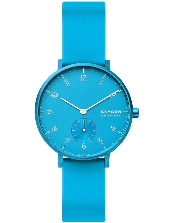 SKW2818 Aaren Kulor Neon Blue Silicone Watch image 2