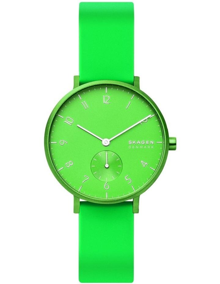 SKW2819 Aaren Kulor Neon Green Silicone Watch image 2