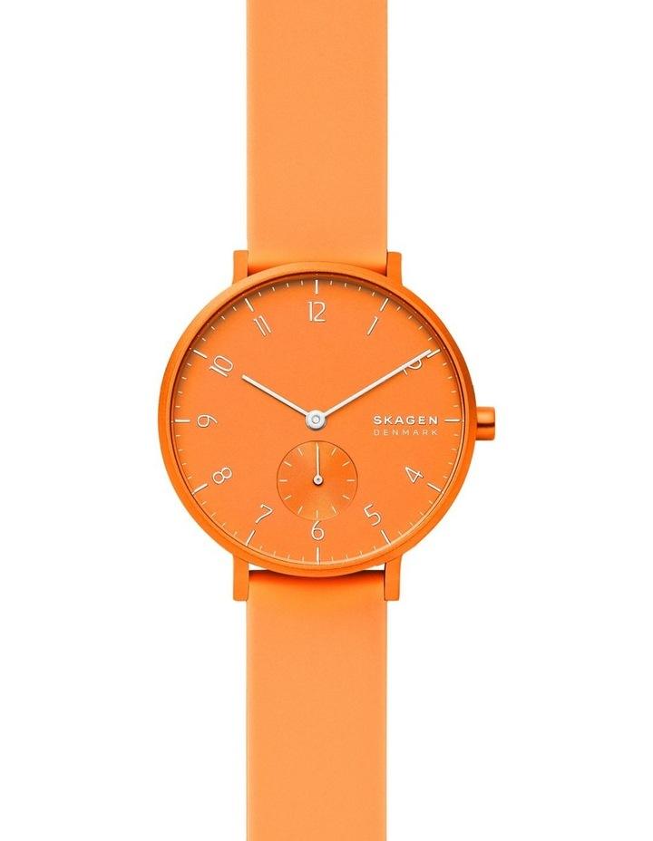SKW2821 Aaren Kulor Neon Orange Silicone Watch image 1