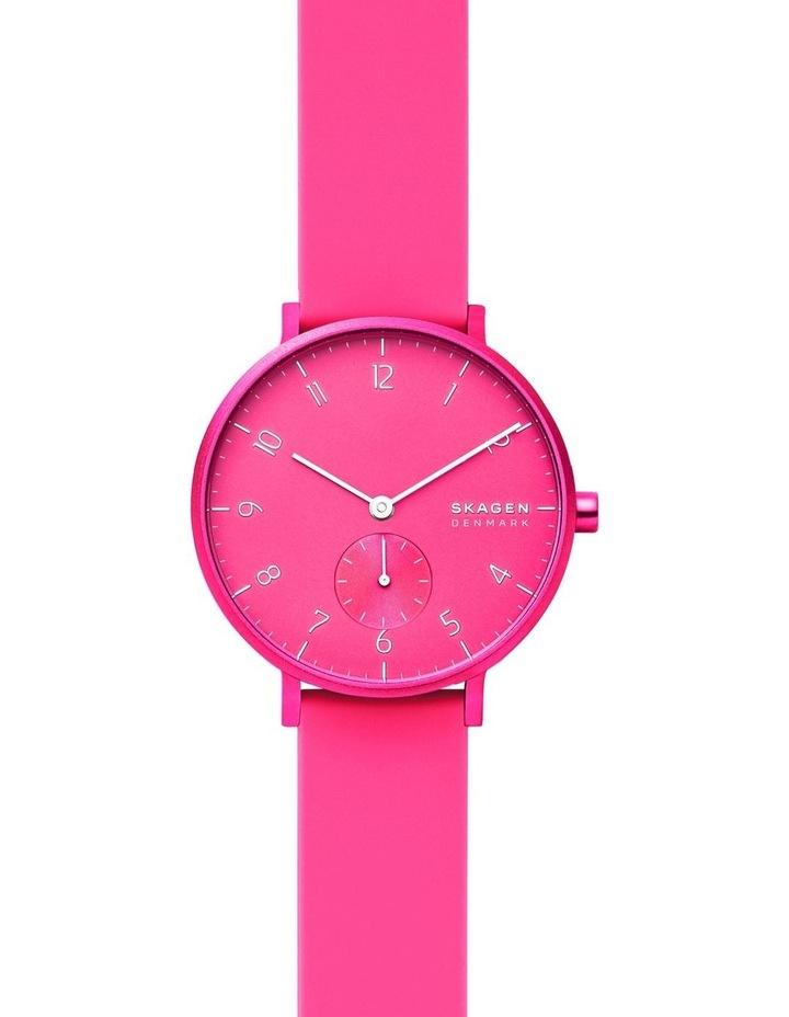 SKW2822 Aaren Kulor Neon Pink Silicone Watch image 1