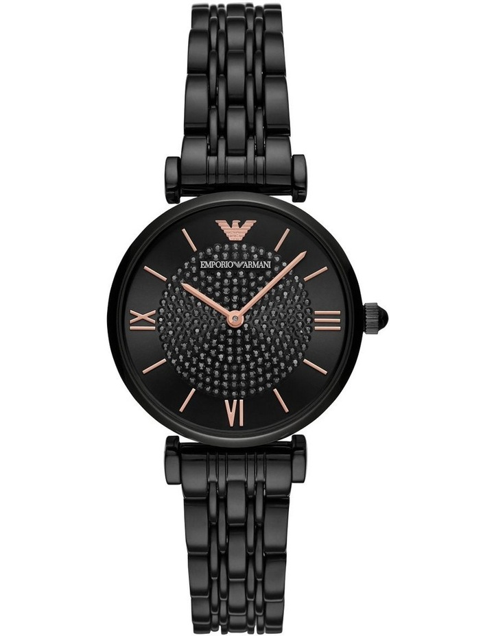 Black Analogue Watch AR11245 image 1