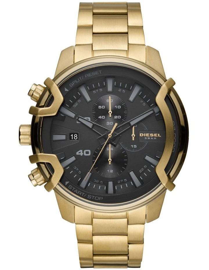 Griffed Gold-Tone Chronograph Watch DZ4522 image 1