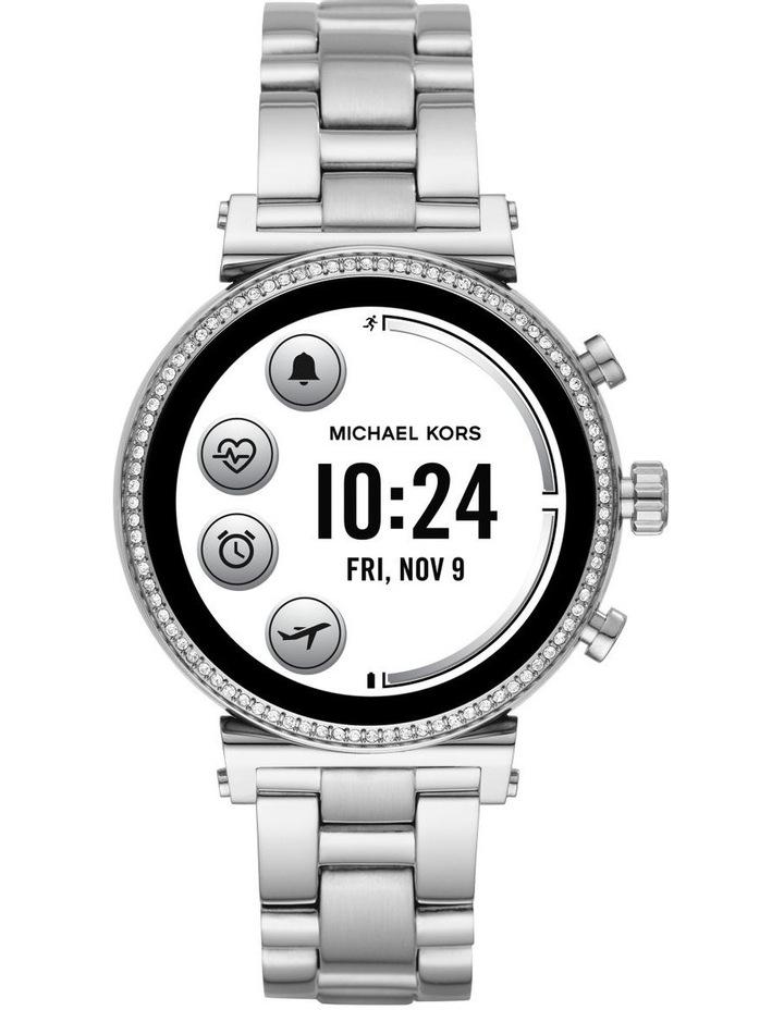 Sofie Silver Display Smartwatch Watch MKT5061 image 4
